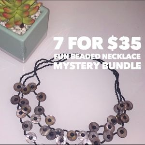 7 for $35 beaded necklace mystery bundle.